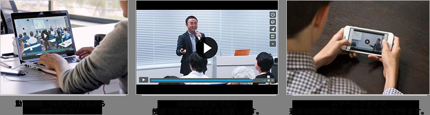 動画講義で何度も見れるから復習も安心!講義動画だけでなく、授業で使うスライドも配信します。スマートフォンで通勤時間も効率的に勉強できます。