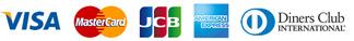 VISA MasterCard JCB AMERICANEXPRESS DinersClub